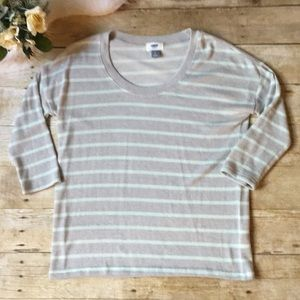Old Navy Gray & Mint Sweater Size Small